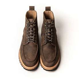 overhead shot of The scout boot