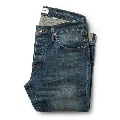 The Slim Jean in Organic Selvage 12-month Wash