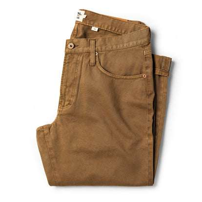 The Slim All Day Pant in Rustic Oak Organic Selvage