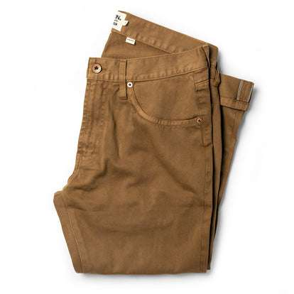 The Democratic All Day Pant in Rustic Oak Organic Selvage