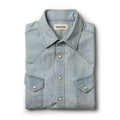 The Western Shirt in Washed Selvage Chambray