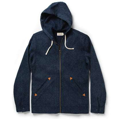 The Après Hoodie in Indigo Waffle