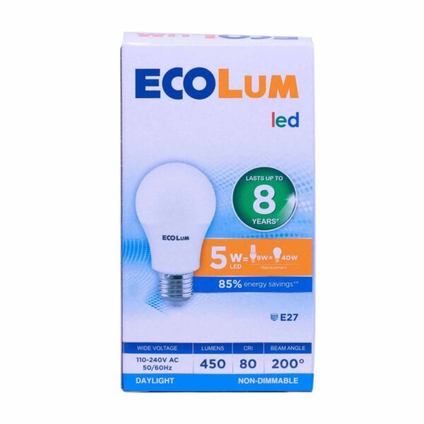 FFLY CBI205DL Ecolum Led Bulb 5 Watt Daylight E27 FF0286 0 1