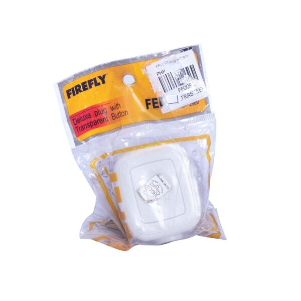FFLY DELUXE PLUG WTRANSPARENT BUTTON FF0091