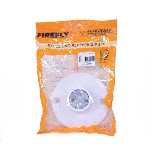 FFLY E27 CEILING RECEPTACLE WHITE 3 12 FEDCRW103 FF0073 2