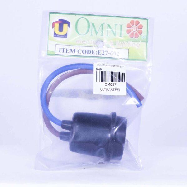OMNI WEATHERPROOF RUBBER SOCKET E27 602 OM027 0