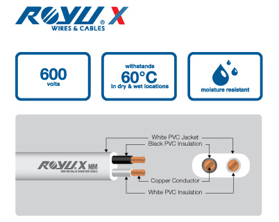 RoyuX Non Metallic Sheathed Cable FAB
