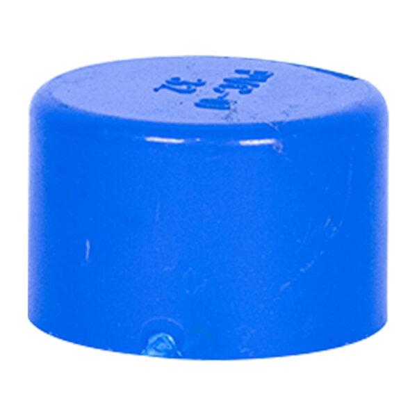 """Blue UPVC End Cap (1"""")"""