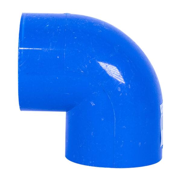BLUE UPVC ELBOW PLAIN 50MM 1 12