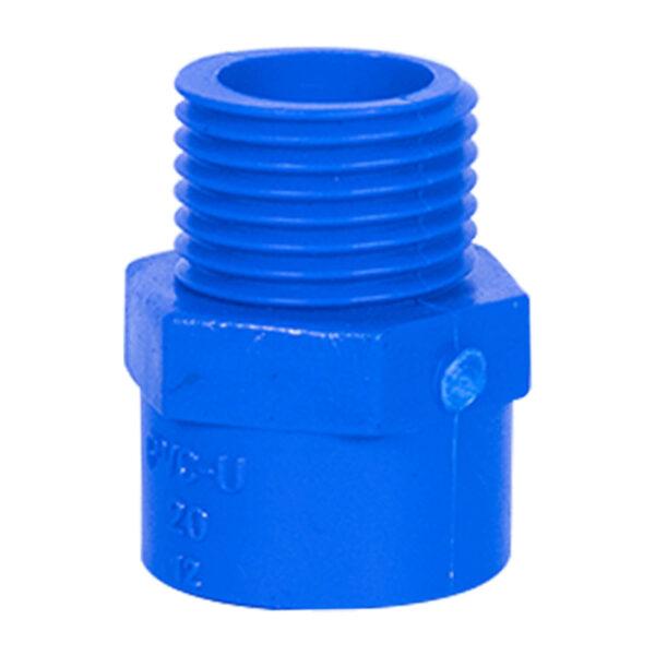 Blue UPVC Male Threaded Adapter (1/2'')