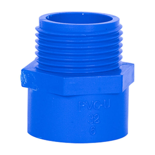 Blue UPVC Male Threaded Adapter (1'')