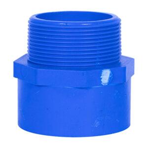 Blue UPVC Male Threaded Adapter (2'')
