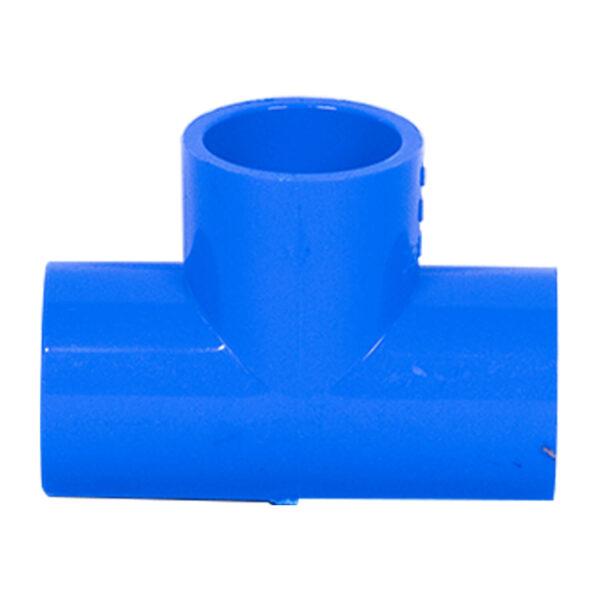 BLUE UPVC TEE PLAIN 20MM 12
