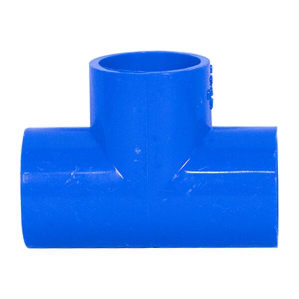 BLUE UPVC TEE PLAIN 25MM 34