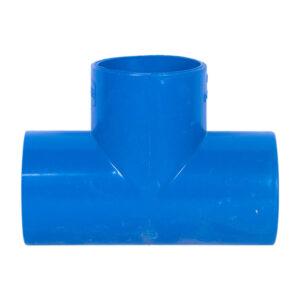 Blue UPVC Tee Plain (1-1/2'')