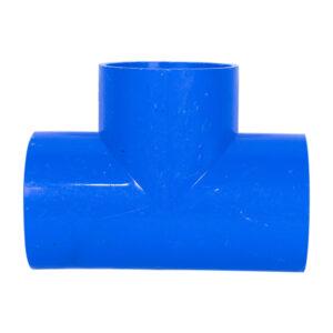 "Blue UPVC Tee Plain (2"")"
