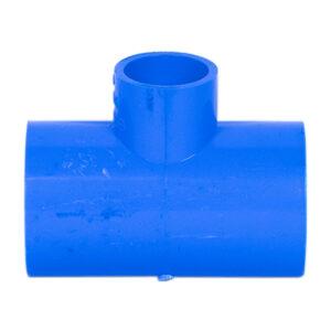 "Blue UPVC Tee Reducer (1"" x 1/2"")"