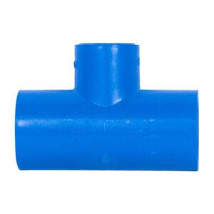 "Blue UPVC Tee Reducer (3/4"" x 1/2"")"