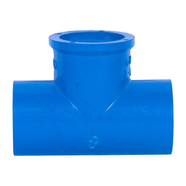 BLUE UPVC TEE THREAD 25MM 34
