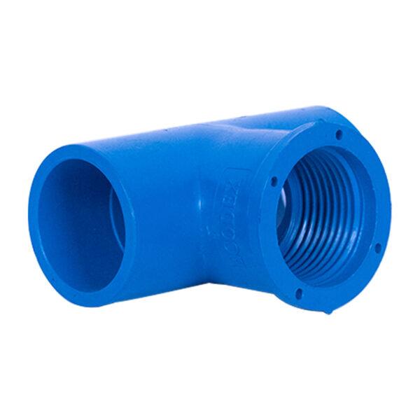 BLUE UPVC TEE THREAD 25MM 341