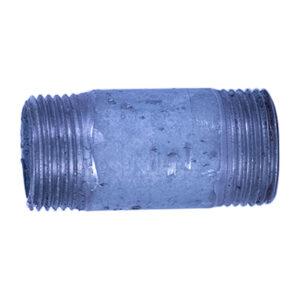 "Galvanized Iron Nipple 20mm (3/4"" diameter x 2"" long)"