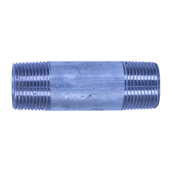 "Galvanized Iron Nipple 20mm (3/4"" diameter x 3"" long)"