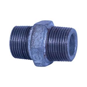 "Galvanized Iron Hex Equal Nipple 20mm (3/4"") HD"