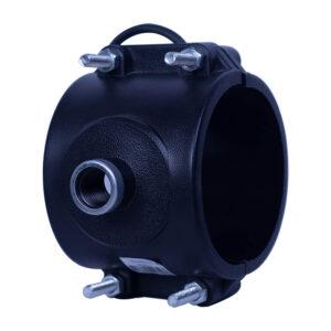 "Saddle Clamp PVC 100mm (4"" x 1/2"")"