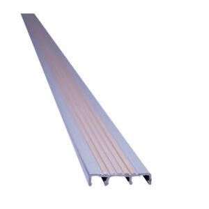Hard PVC Stair Nosing Gray/Beige x8'