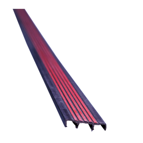 Hard PVC Stair Nosing Red/Brown x8'