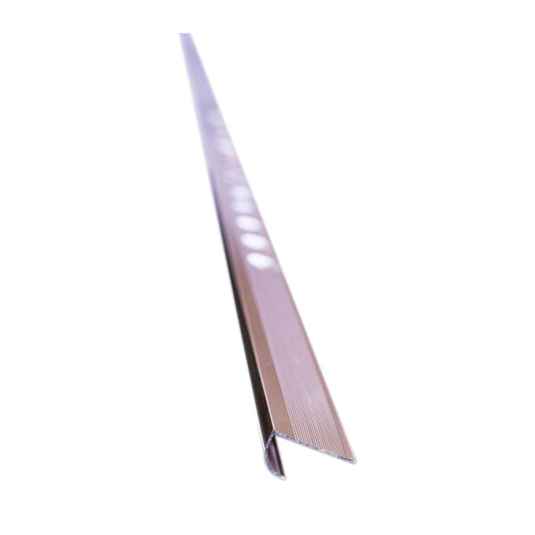 Aluminum Tile Trim ZJ-155B 10mm x 8' Bronze Polished