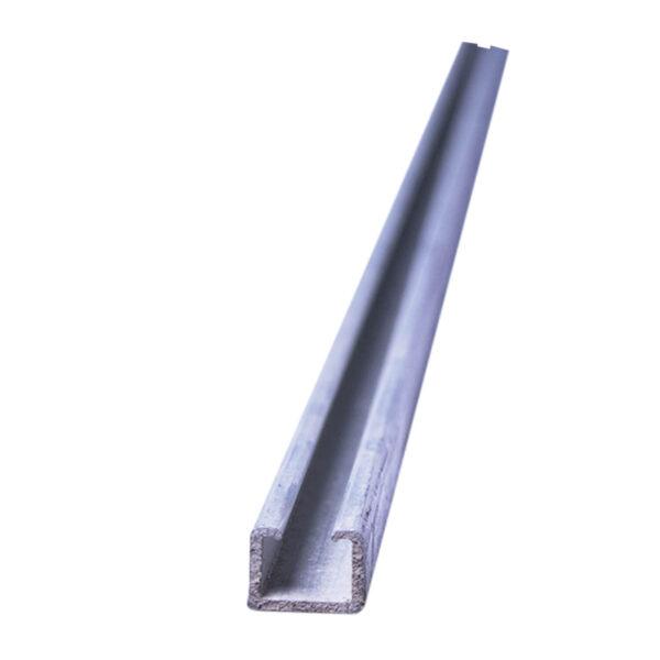 Aluminum Listellos SYDT0185 2.5Mx16x12mm Anodized Silver