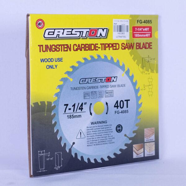 Creston Circular Saw Blade 185mm (Wood) FG-4085