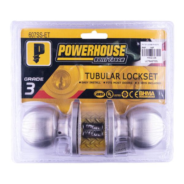 Powerhouse Tubular Lockset PH-607SSET Satin