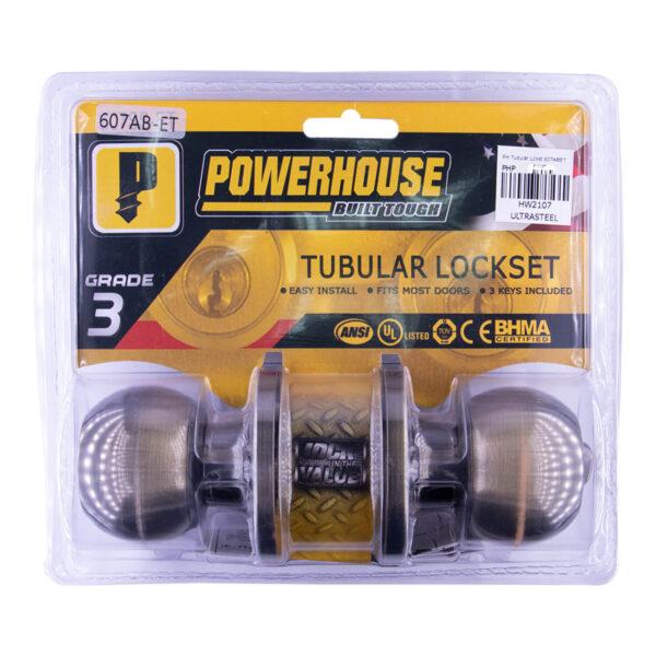 Powerhouse Tubular Lockset PH-607ABET Antique