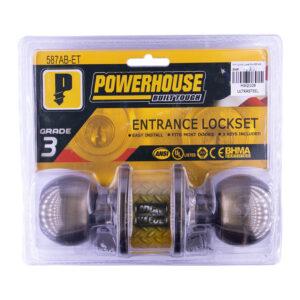 Powerhouse Cylinder Lockset PH-587ABET Antique