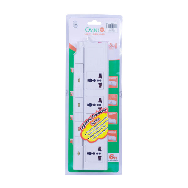 Omni Extension Cord W/Switch 4Gang WED-340