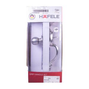 Hafele 489.10.630 Grip Handle Lock Satin Nickel