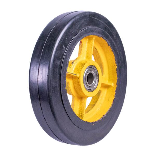 """Rigid Rubber Wheel w/Rim HD Solid 8"""""""