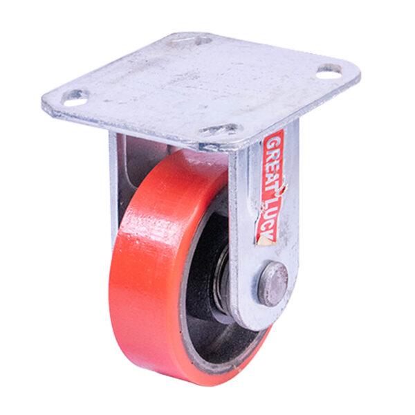 "GL Caster 4"" Rigid Caster NPU (red) SP04BD GL 200kg."