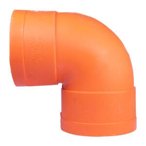 "Sanitary PVC S1000 Elbow 4""x90"