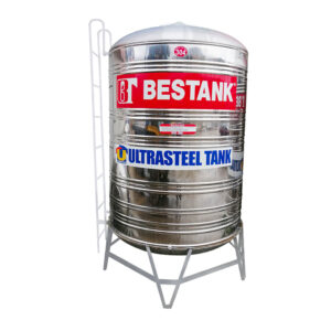 Stainless Vertical Tank w/ Ladder