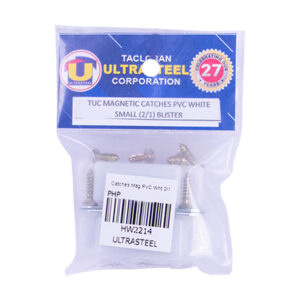 Magnetic Catches PVC White Small (2/1) Blister