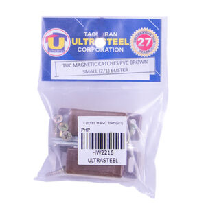 Magnetic Catches PVC Brown Small (2/1) Blister