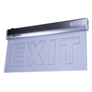 LightHouse LED Emergency Exit Sign Glass LHE-SAP-002