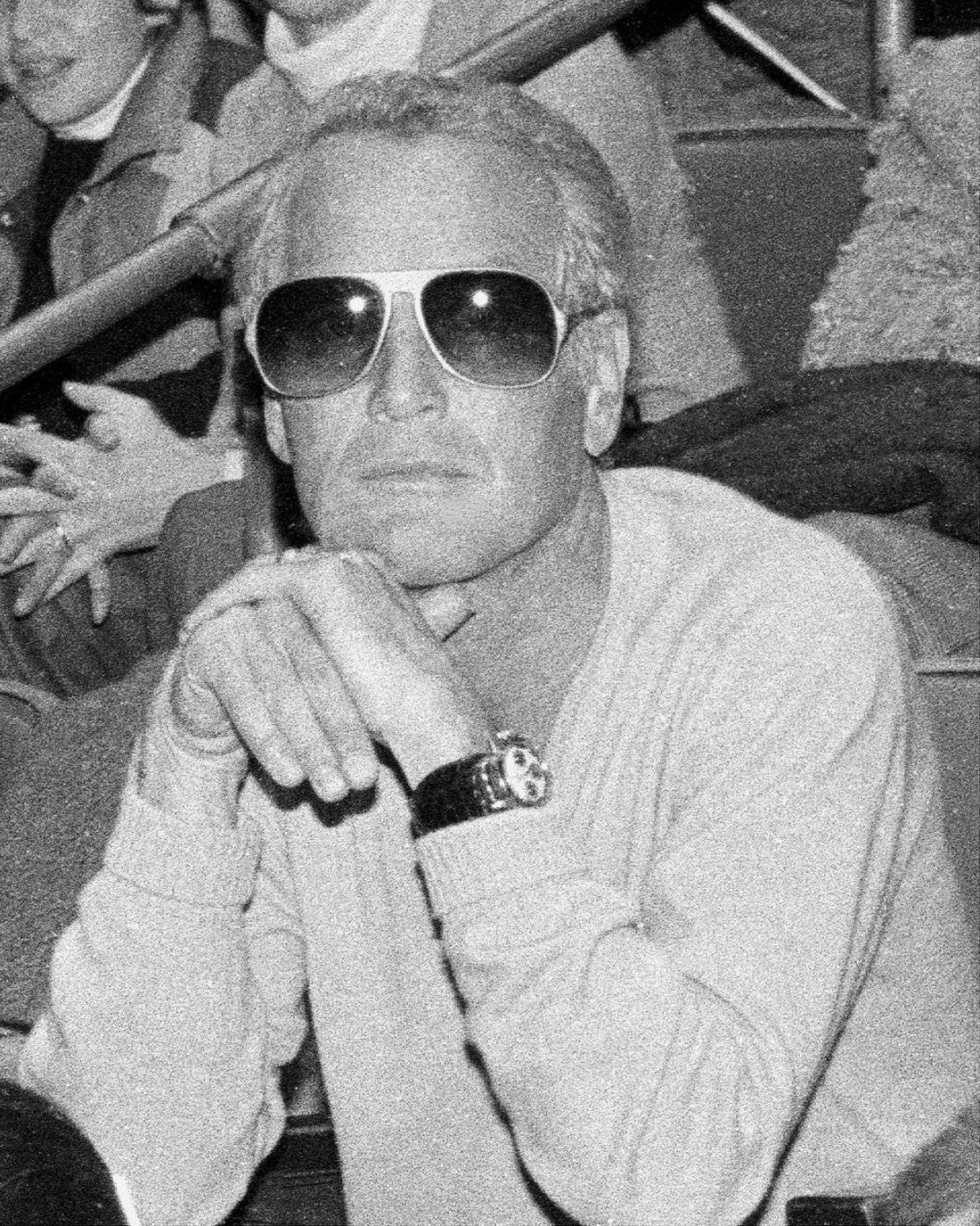 Actor Paul Newman sporting a Rolex watch.