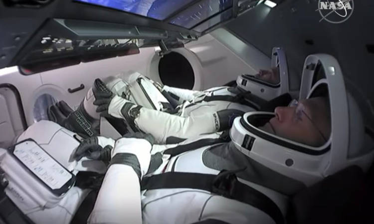 Falcon 9 Crew Bob Behnken and Doug Hurley sporting the Omega X33