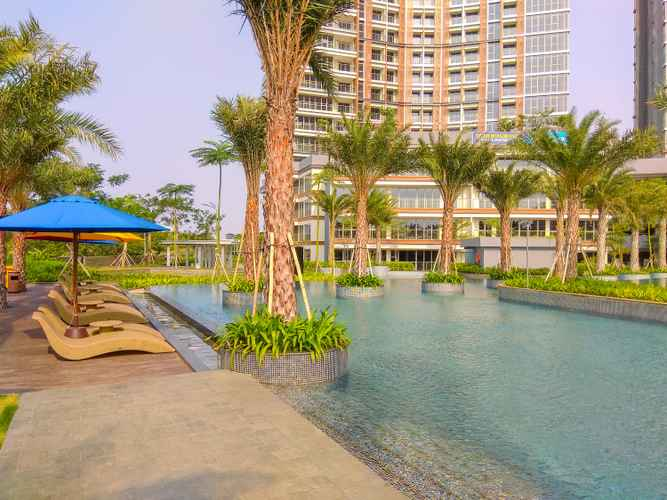 SWIMMING_POOL Gold Coast Studio Apartment with Pool and Sea View By Travelio