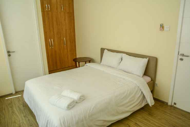 BEDROOM Exclusive 2 BR with Private Lift at One Park Gandaria Residence Apartment By Travelio