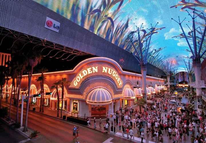 Toàn cảnh Golden Nugget Casino ở Lasvegas, Nevada, Hoa Kỳ